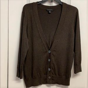 Banana Republic Cardigan Sweater Size L Brown
